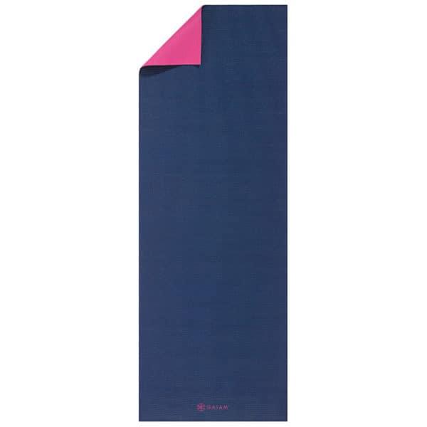 Gaiam Navy & Pink Yogamåtte 3mm